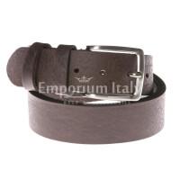 Cintura uomo in vera pelle RINO DOLFI mod. RIO colore TESTA DI MORO Made in Italy
