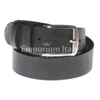 Cintura uomo in vera pelle RINO DOLFI mod. RIO colore NERO Made in Italy