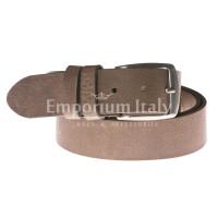 Cintura uomo in vera pelle RINO DOLFI mod. RIO colore MIELE Made in Italy