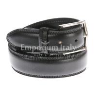 Cintura uomo in vera pelle RINO DOLFI mod. TARANTO colore NERO Made in Italy