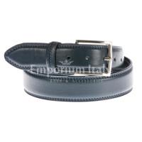 Cintura uomo in vera pelle RINO DOLFI mod. TARANTO colore BLU Made in Italy