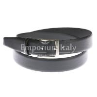 Cintura uomo in vera pelle GIULY mod. VANCOUVER colore NERO Made in Italy