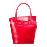 Borsa donna in vera pelle RINO DOLFI mod. MEG, colore ROSSO, Made in Italy.