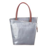 Borsa donna in vera pelle RINO DOLFI mod. MEG, colore GRIGIO, Made in Italy.