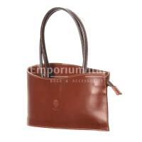 Borsa donna in vera pelle RINO DOLFI mod. RENEE, colore MARRONE, Made in Italy.