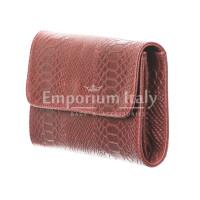 Borsa donna in vera pelle CHIARO SCURO mod. EMILIA, colore BORDEAUX, Made in Italy.