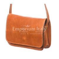 Borsa donna in vera pelle RINO DOLFI mod. MILVIA, colore MIELE, Made in Italy.