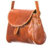 Borsa donna in vera pelle RINO DOLFI mod. ROSETTA, colore MIELE, Made in Italy.
