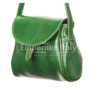 Borsa donna in vera pelle RINO DOLFI mod. ROSETTA, colore VERDE, Made in Italy.