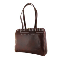 Borsa donna in vera pelle MAESTRI mod. DORA colore MARRONE Made in Italy