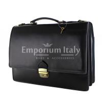 Borsa ufficio da uomo in vera pelle GABRIELE, colore NERO, MAESTRI, MADE IN ITALY