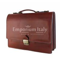 Borsa ufficio da uomo in vera pelle GABRIELE, colore MARRONE, MAESTRI, MADE IN ITALY