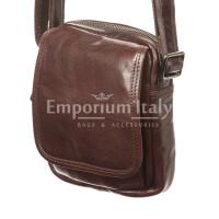 Borsa uomo in vera pelle RINO DOLFI mod. MARINO, colore TESTA DI MORO, Made in Italy.