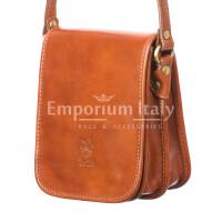 Borsa uomo in vera pelle RINO DOLFI mod. EDGARDO, colore MIELE, Made in Italy.