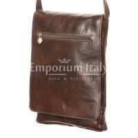 Borsa uomo in vera pelle RINO DOLFI mod. RONI, colore TESTA DI MORO, Made in Italy.
