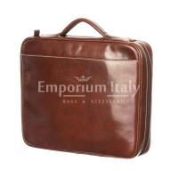 офисный портфель /деловая сумка из кожи RINO DOLFI мод. ALFREDO, цвет КОРИЧНЕВЫЙ, Made in Italy.