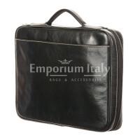 Cartella ufficio / lavoro in vera pelle RINO DOLFI mod. ALFREDO, colore NERO, Made in Italy.