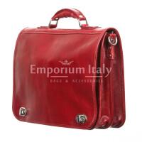 Cartella ufficio / lavoro uomo e donna in vera pelle MAESTRI mod. GIORGIO,colore ROSSO, Made in Italy.