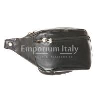 Borsa uomo in vera pelle RINO DOLFI mod. CORRADO, colore NERO, Made in Italy.