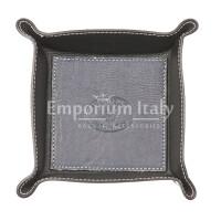 Porta oggetti uomo / donna in pelle EMPORIO TITANO mod HARRY, colore BLU / NERO, Made in Italy.