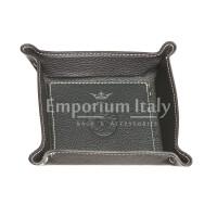 Porta oggetti uomo / donna in pelle EMPORIO TITANO mod HARRY, colore NERO, Made in Italy.