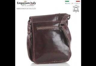 Tracolla uomo in vera pelle ULISSE, colore MARRONE, MAESTRI, MADE IN ITALY