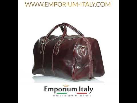 Borsone viaggio NILO MAXI in vera pelle colore TESTA MORO, RINO DOLFI, Made in Italy