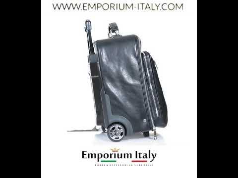 Borsa da viaggio PANARO in vera pelle primo fiore,NERO, RINO DOLFI, Made in Italy