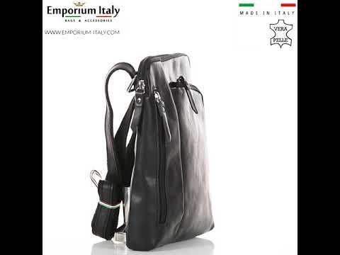 Tracolla uomo in vera pelle FLAVIO, colore NERO, SANTINI, MADE IN ITALY