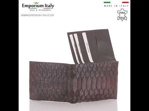 Portafoglio in pelle di pitone da uomo ABU DHABI certificato CITES TESTA MORO SANTINI MADE IN ITALY