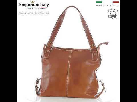 Borsa a spalla da donna in vera pelle ANTONELLA, colore MIELE, RINO DOLFI, MADE IN ITALY