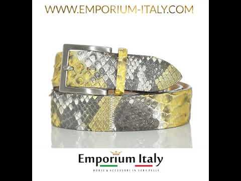 Cintura uomo BEIRUT C22, vera pelle pitone certificato CITES, ELIO ZAGATO, Made in Italy