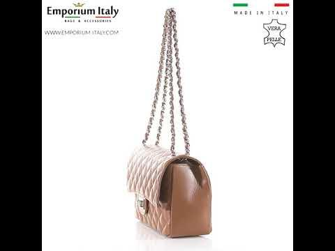 CHARLOTTE MEDIUM : borsa donna in pelle morbida, colore : MIELE, Made in Italy