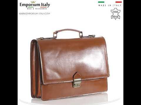 Borsa ufficio da uomo in vera pelle GABRIELE, colore MIELE, MAESTRI, MADE IN ITALY