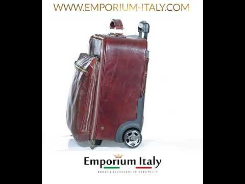 Borsa da viaggio PANARO in vera pelle primo fiore, TESTA DI MORO, RINO DOLFI, Made in Italy