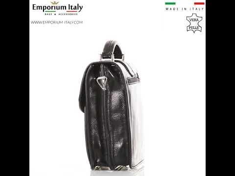 Tracolla uomo in vera pelle ARTURO, colore NERO, RINO DOLFI, MADE IN ITALY