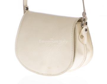 borsa a tracolla donna in pelle bianca