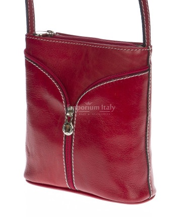 borsa a tracolla donna in pelle rosso bordeaux
