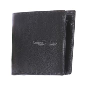 portafoglio uomo in pelle nero classico