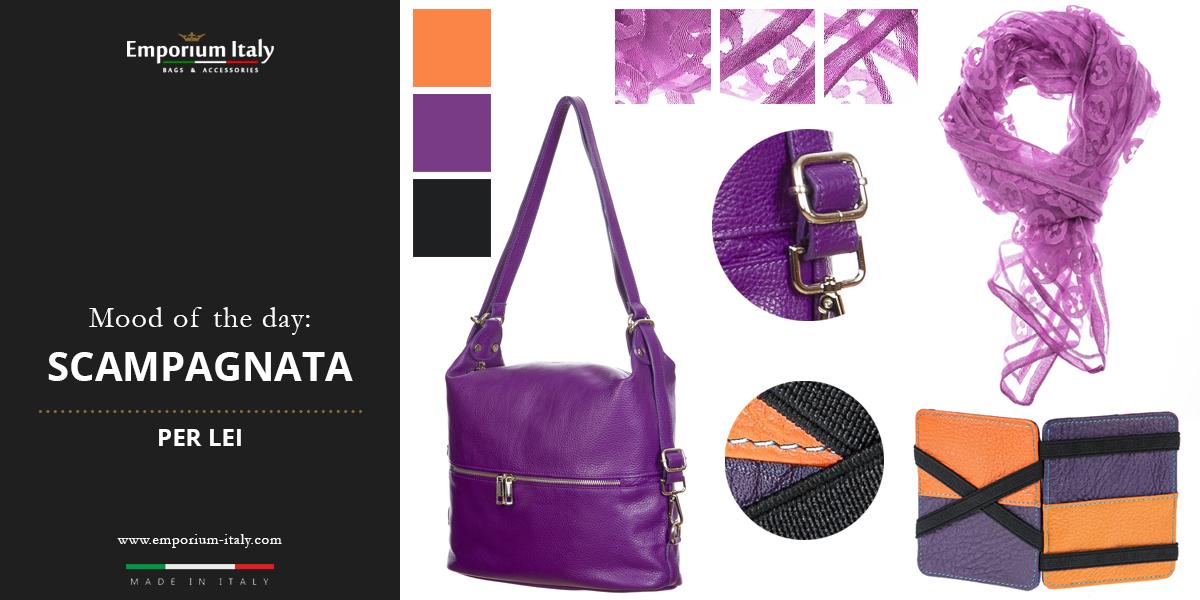 Moodboard: scampagnata per lei -  Borsa zaino, portatessere e foulard